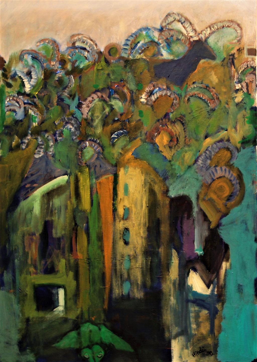 Gämse - 70 x 100 cm, Acryl auf Leinwand