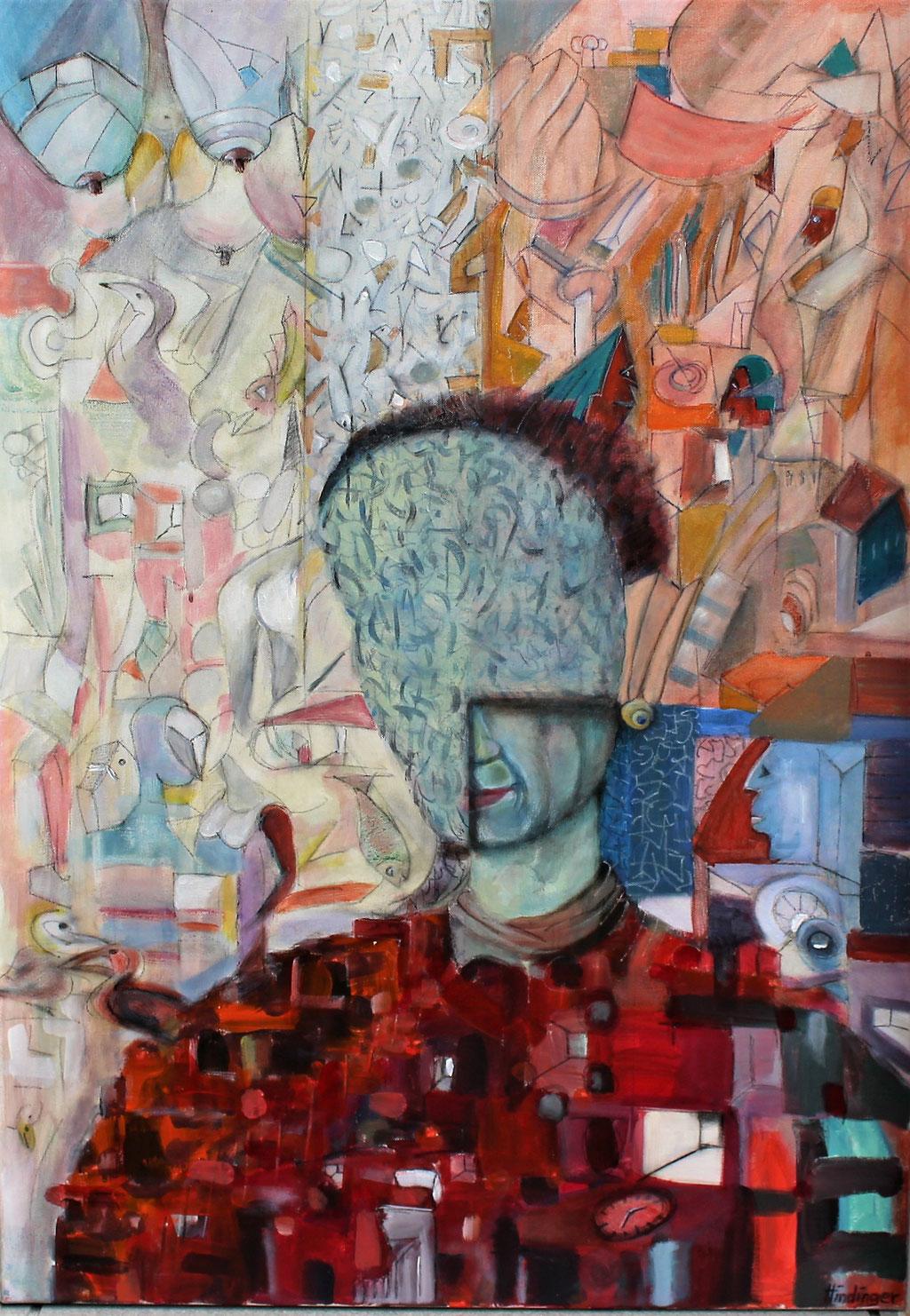 intensivklarheit - 70 x 100 cm, Acryl auf Leinwand
