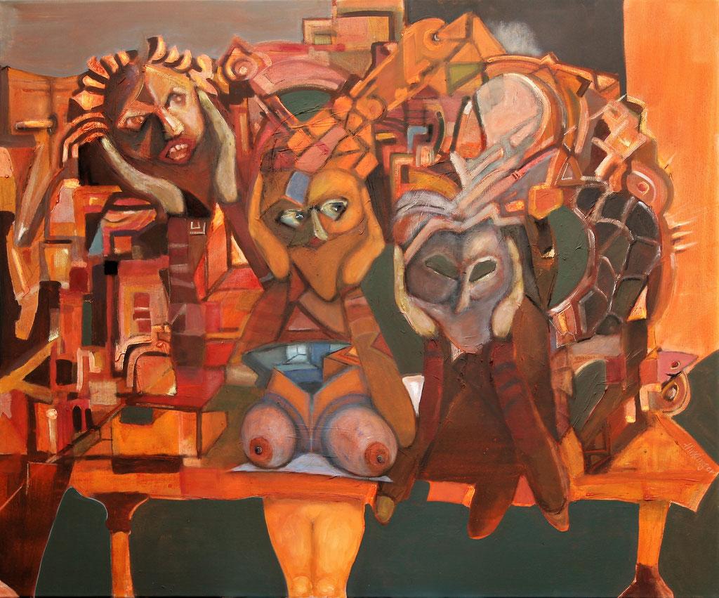umwandeln - 100 x 120 cm, Acryl auf Leinwand