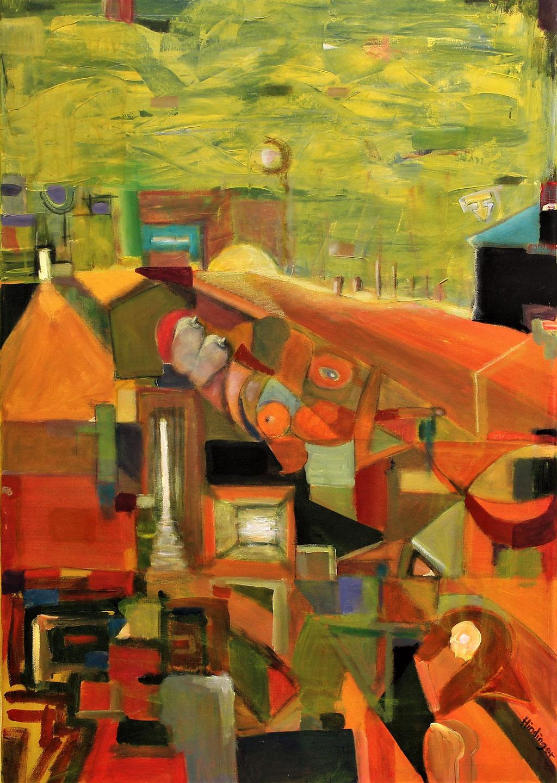 sommertakt - 70 x 100 cm, Acryl auf Leinwand