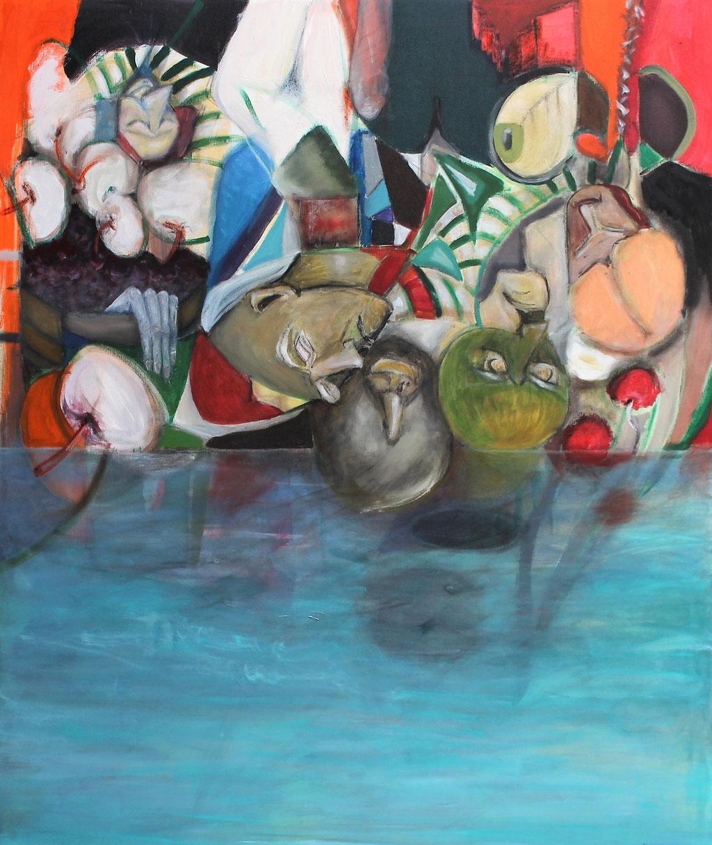 alltagswandel - 100 x 120 cm, Acryl auf Leinwand