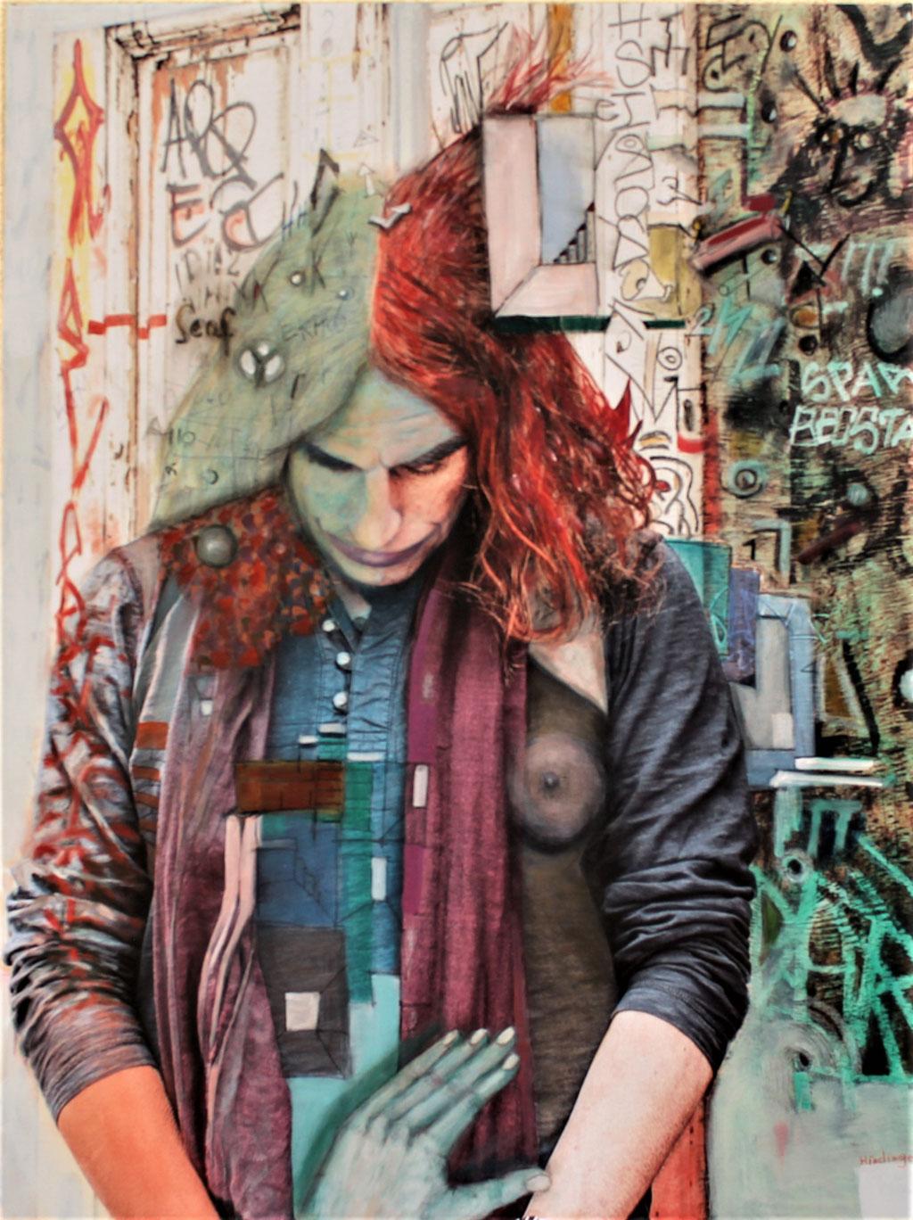 ich - 80 x 100 cm, Acryl auf Leinwand