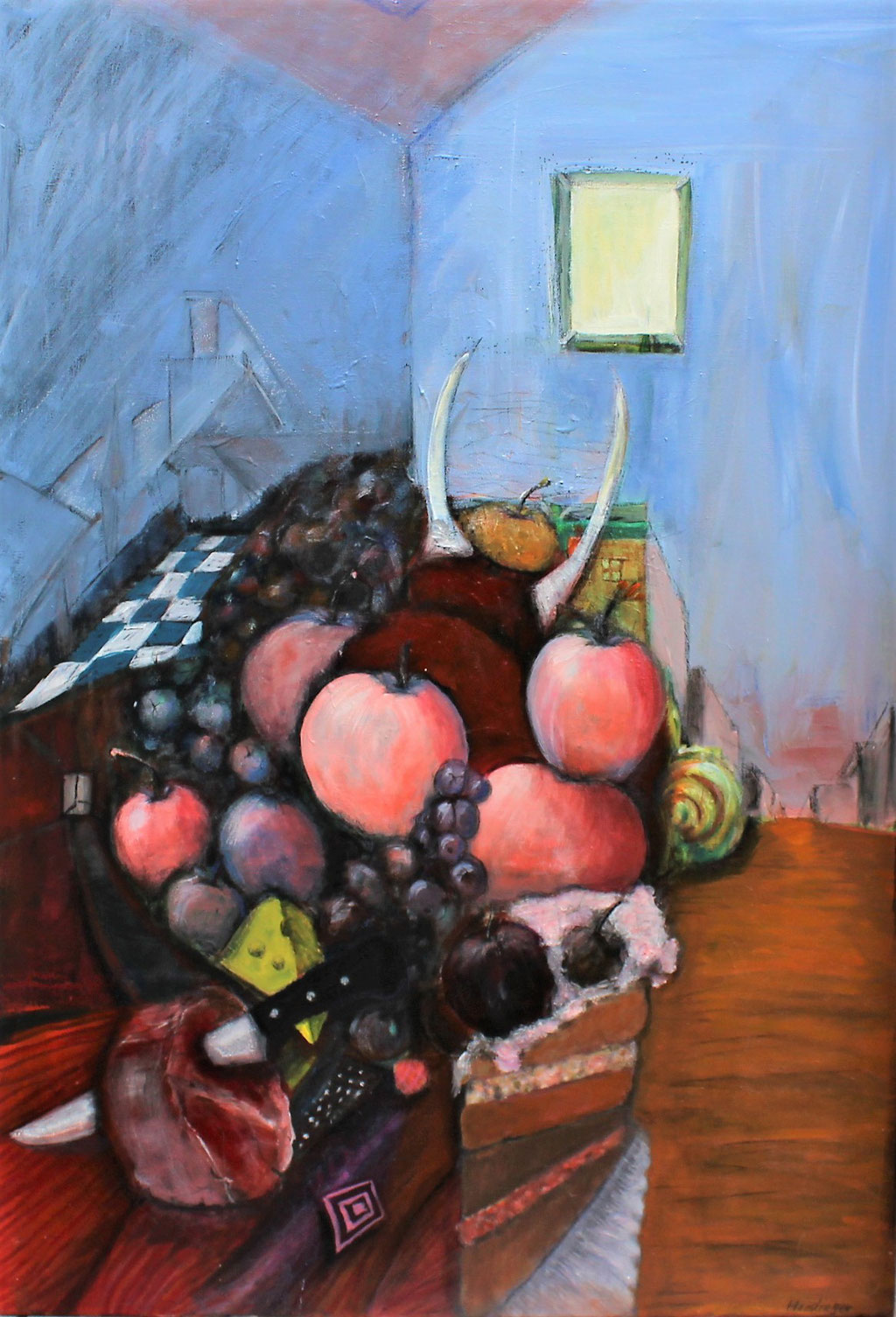 weitblick-jause - 70 x 100 cm, Acryl auf Leinwand