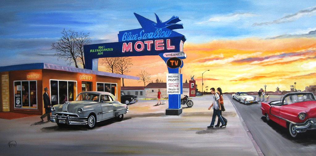 La pause au motel, 100x50cm