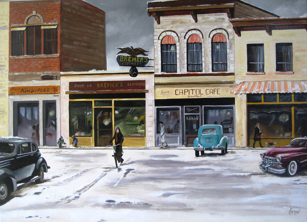 un hiver à Boston, huile sur toile 100 x 73 cm ©2014