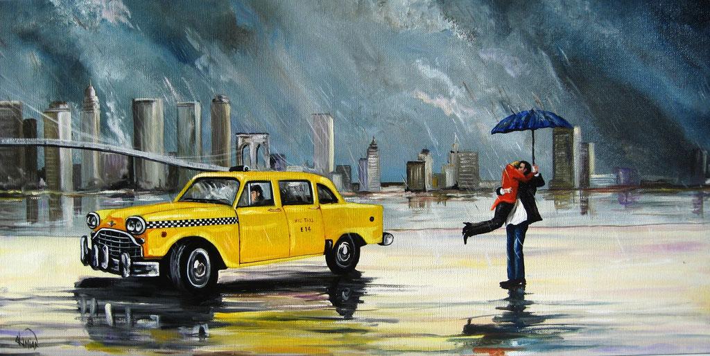 scène New-yorkaise, guile sur toile