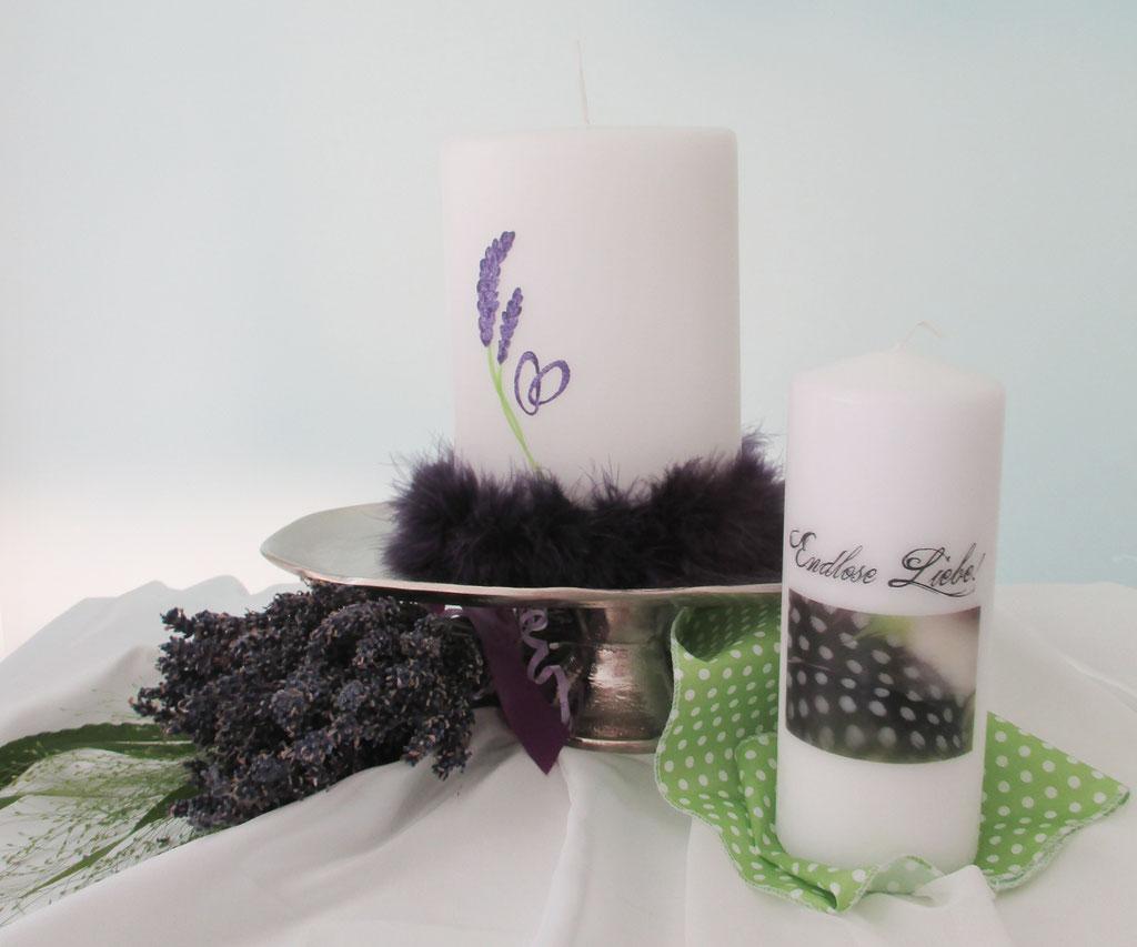 Hochzeitskerze Violett
