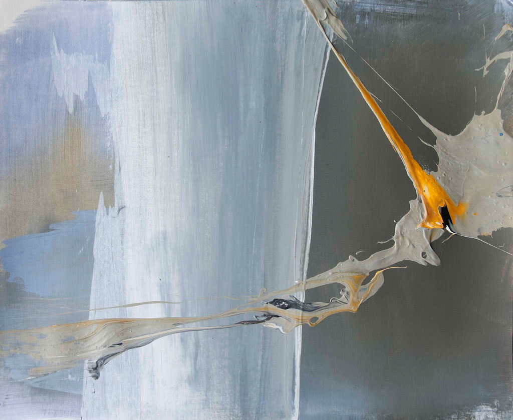 Edge 2, 2014  Acryl auf Papier  38 x 46 cm