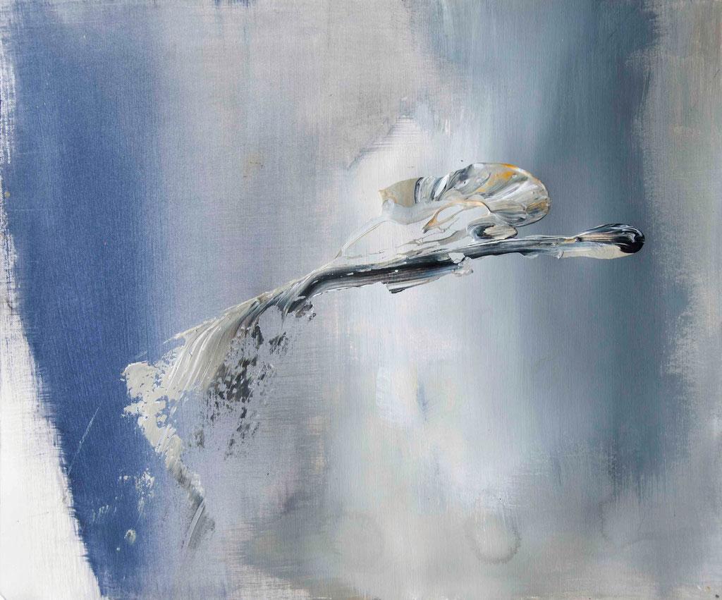 Edge 1*, 2014  Acryl auf Papier  38 x 46 cm