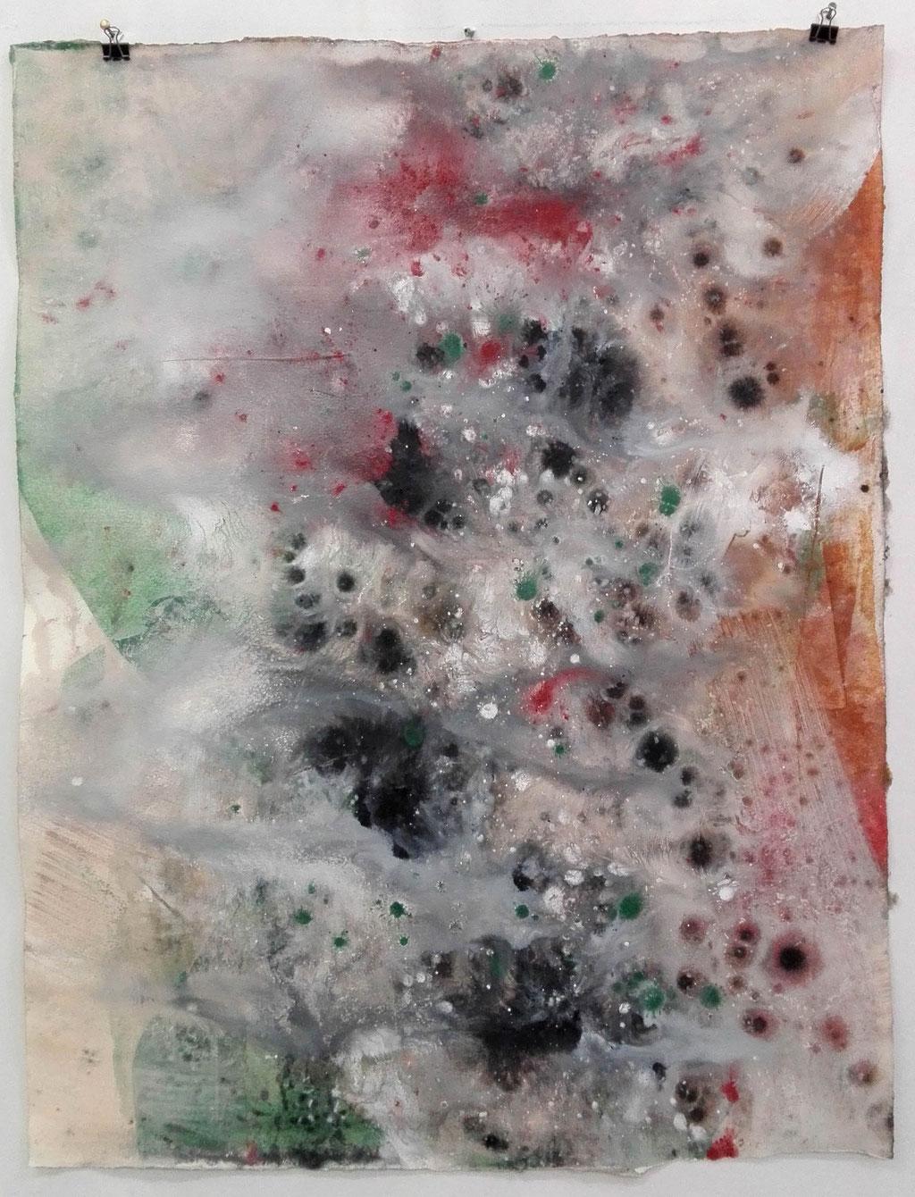 Connex 2, 2019  Erdpigmente auf Aquarellpapier, 60 x 50 cm