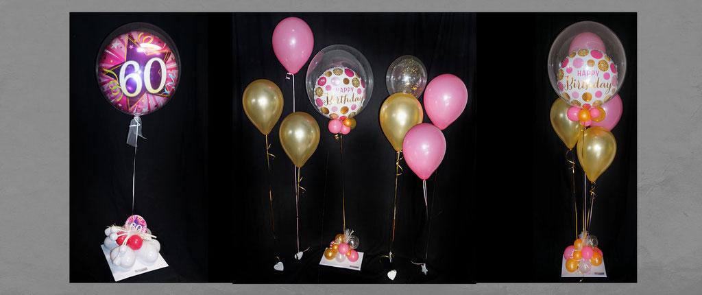 außergewöhnliche Ballon-Geschenke Geburtstag Dekoration Deko Bouquet