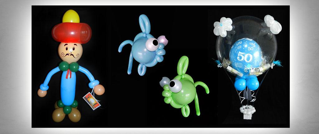 außergewöhnliche Ballon-Geschenke Geburtstag Dekoration Deko Luftballon Heliumballon Fisch
