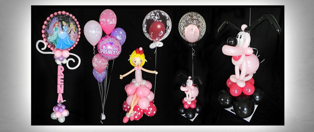 außergewöhnliche Ballon-Geschenke Geburtstag Dekoration Deko Luftballon Heliumballon Prinzessin Princess Hund