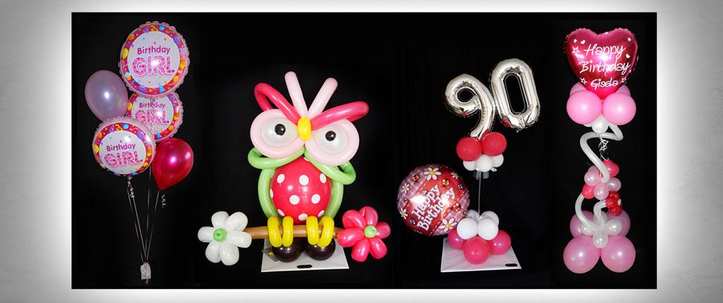 außergewöhnliche Ballon-Geschenke Geburtstag Dekoration Deko Luftballon Heliumballon Eule 90