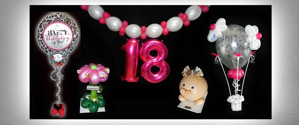 außergewöhnliche Ballon-Geschenke Geburtstag Dekoration Deko Luftballon Heliumballon 18