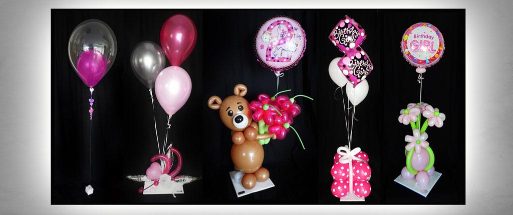 außergewöhnliche Ballon-Geschenke Geburtstag Dekoration Deko Luftballon Heliumballon Bär