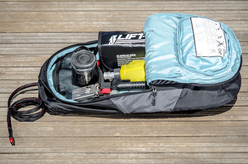 10l battery bag small square format