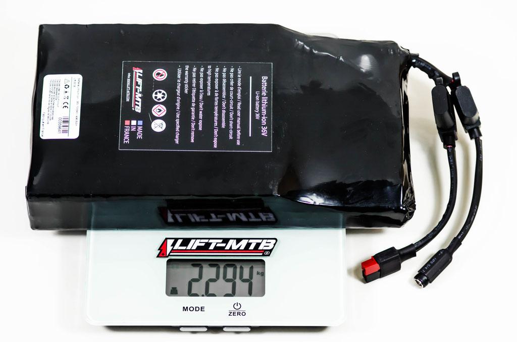 Batterie 14 Ah plate pour sac à dos.