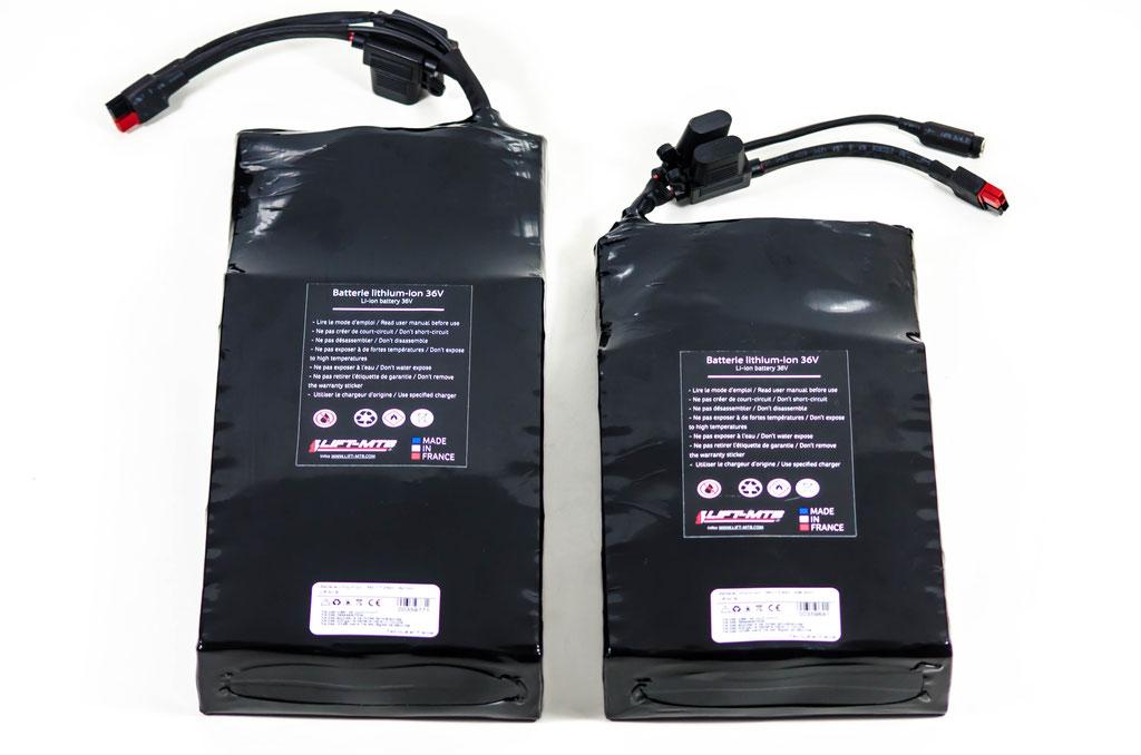 Différentes versions de la batterie 14 Ah en versions plate et carrée