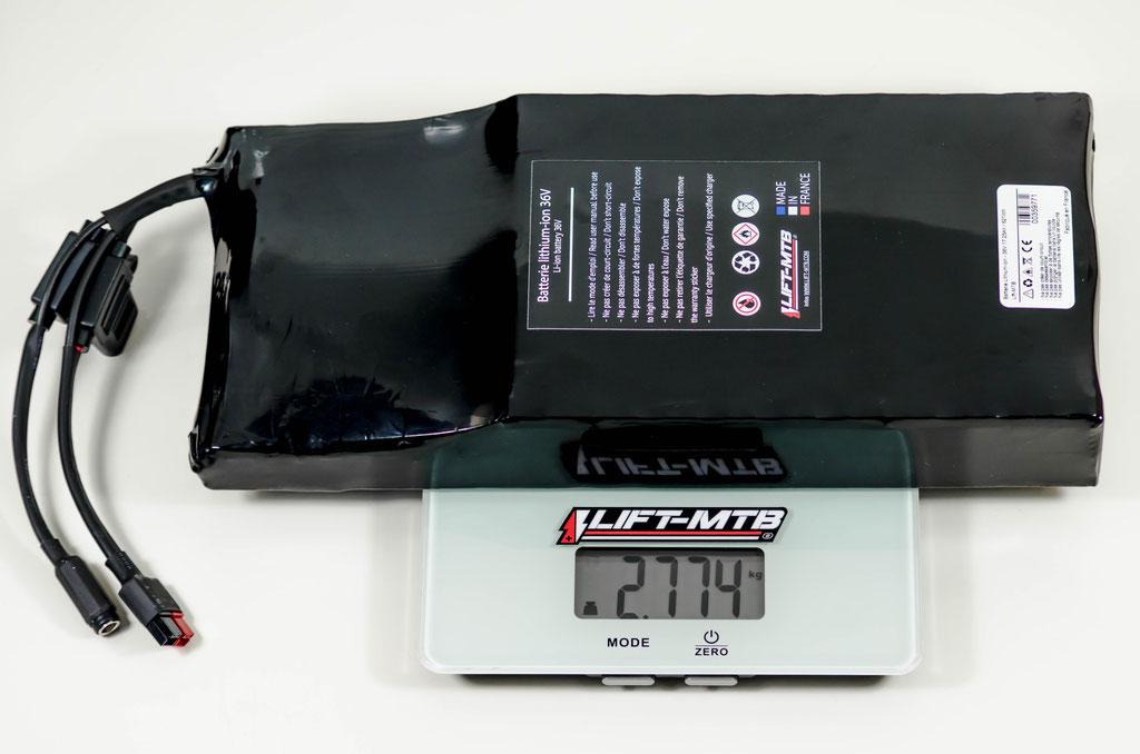 Batterie 17,4 Ah plate pour VTTAE.