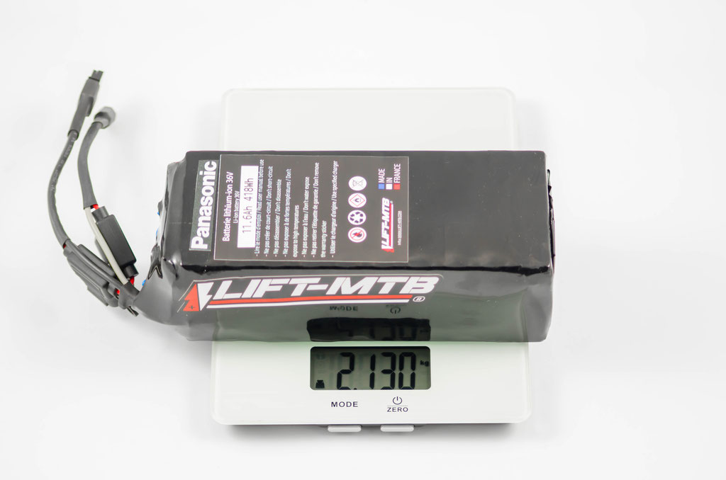 Batería de bicicleta de montaña eléctrica 11.6ah