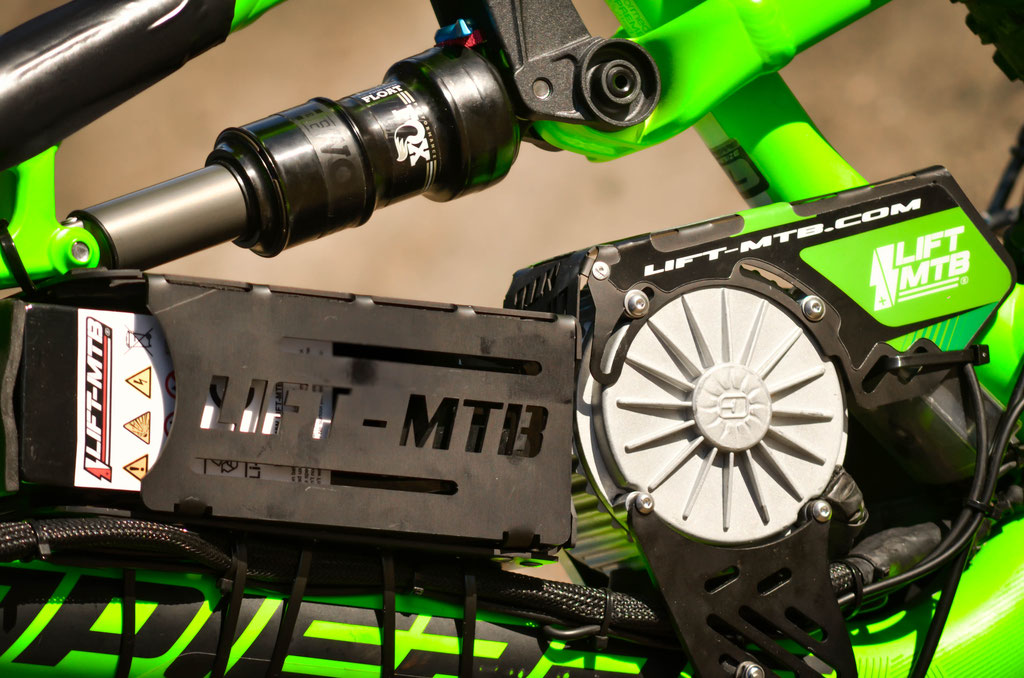 compact battery support for lift mtb kit