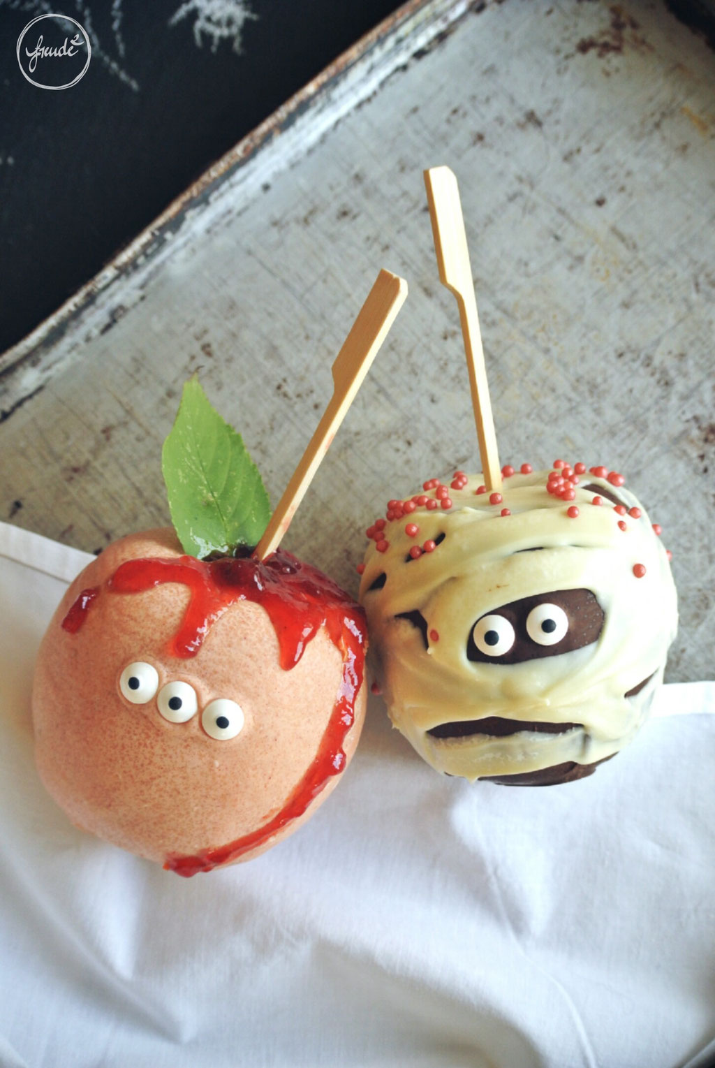 Schokoladige Grusel Äpfel