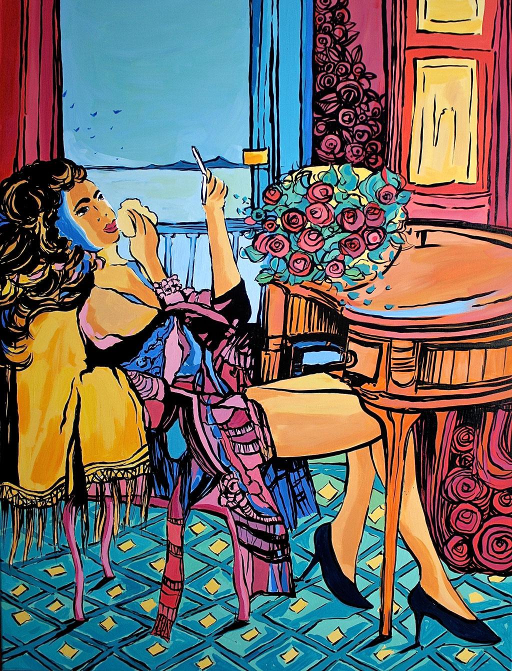"""""""A TTRAVERSO LA FINESTRA"""" - 89 cm x 116 cm"""