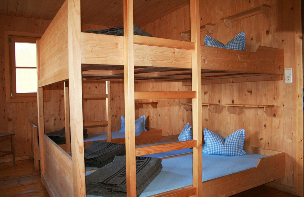 Schlafmöglichkeiten auf der Memminger Hütte - © Fotoarchiv Familie Schmid