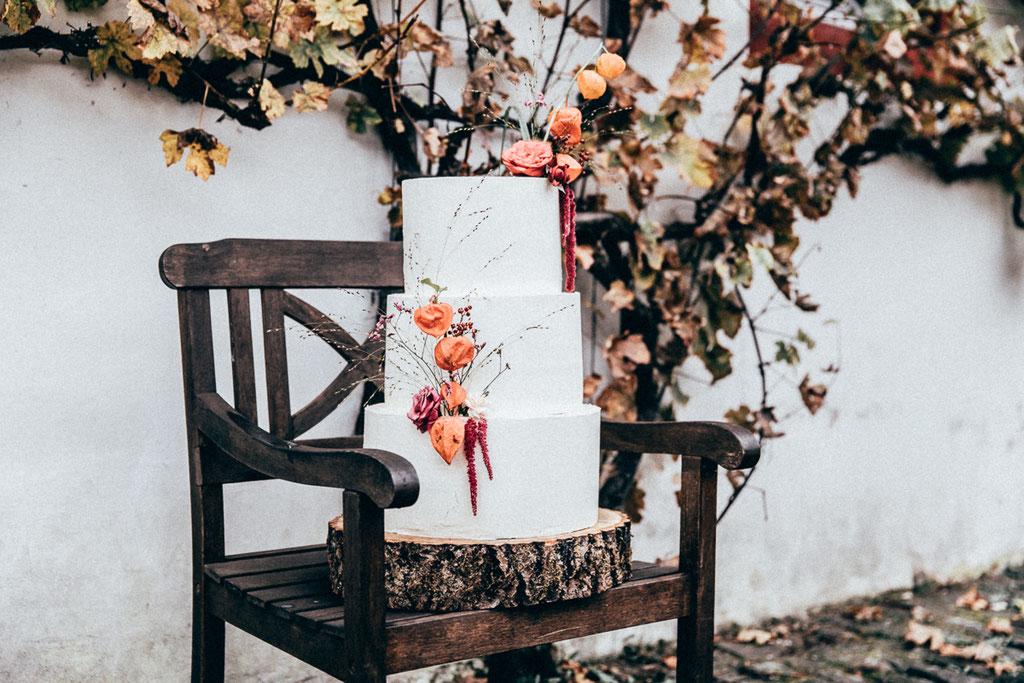 Cremetorte im Herbstkleid (Foto: Herrundfrau.w)