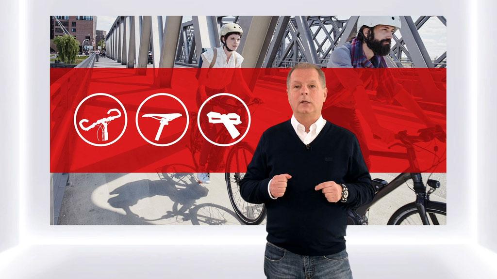 Perfekte Ergonomie beim Radfahren, findet Geschäftsführer Wilhelm Humpert, nutze schließlich allen.