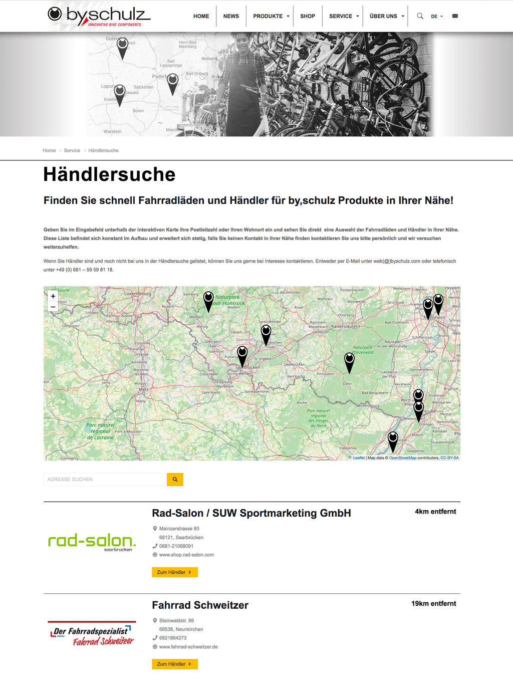 Händlersuche by.schulz