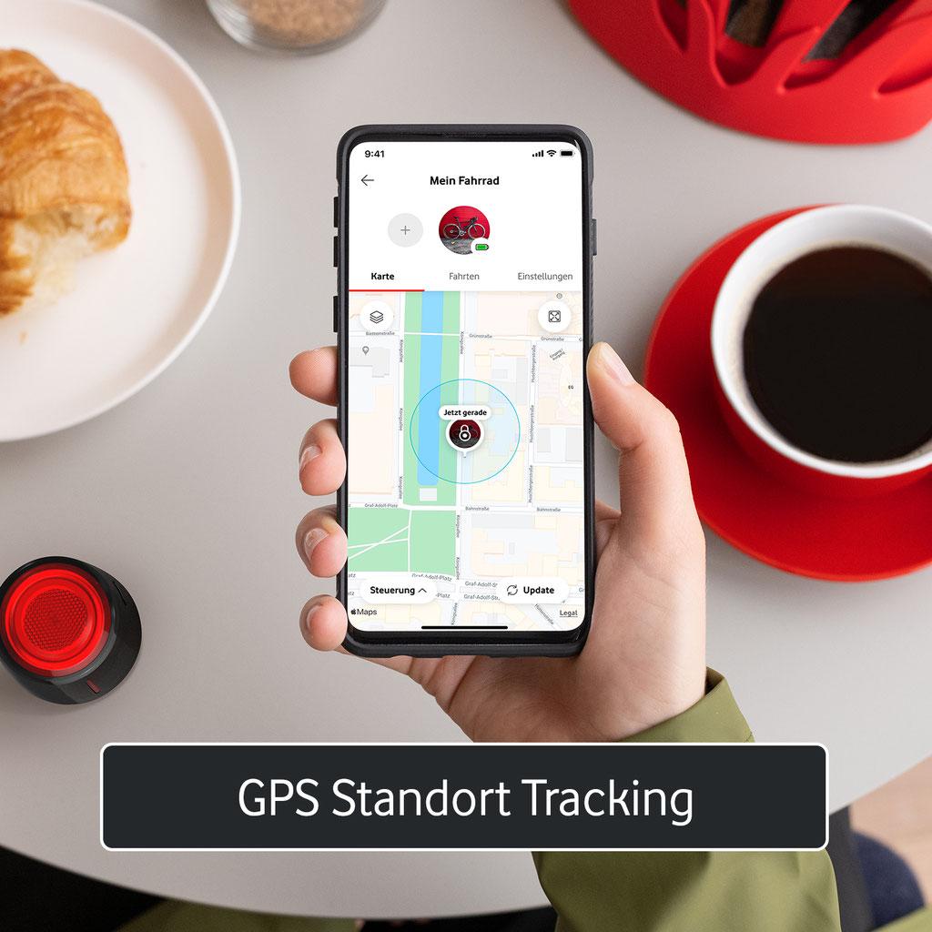 Vodafone Curve Bike Light & GPS Tracker für Fahrräder