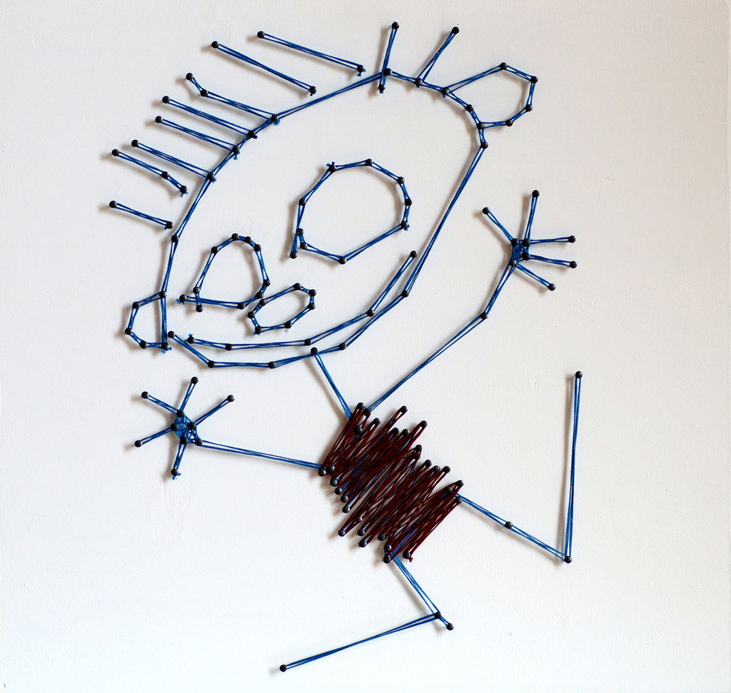 "string art ""me""   -   not for sale"