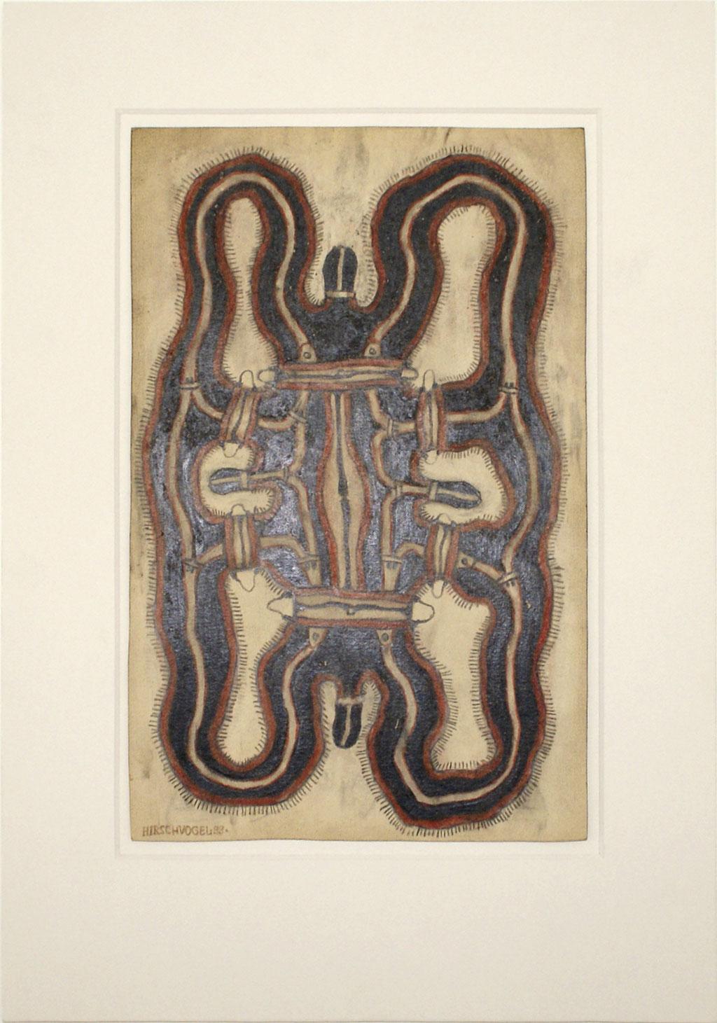 <b>o.T., 1999, </b><br>Zeichnung, Bleistift und Buntstift auf Papier, <br>29 x 18,5 cm