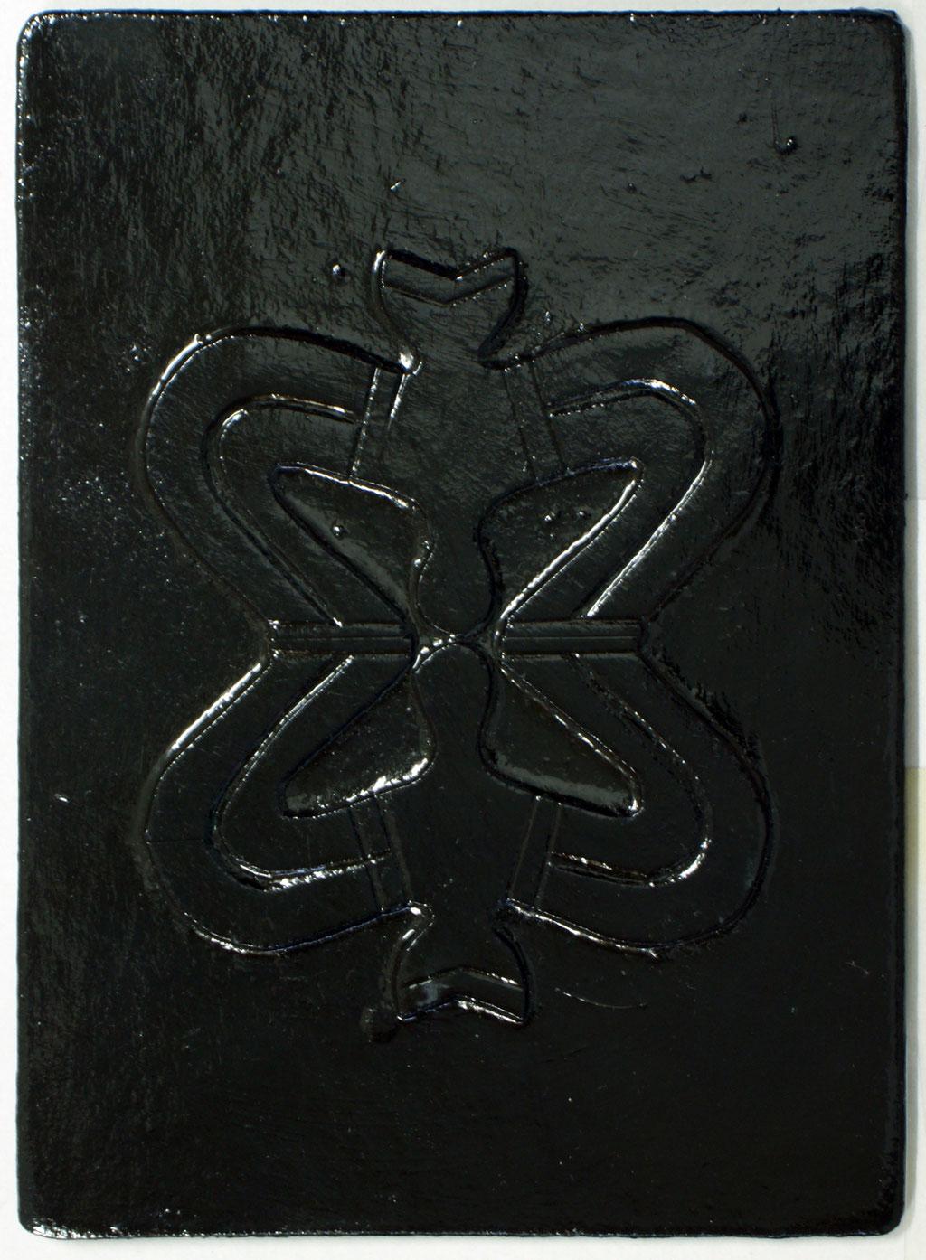 <b>o.T., 2002, </b><br>Mischtechnik auf Hartfaser, <br>21 x 15 cm