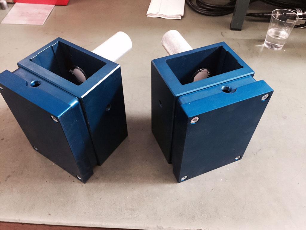Die ausgerüsteten Griffe nach der Fertigstellung bei DISA