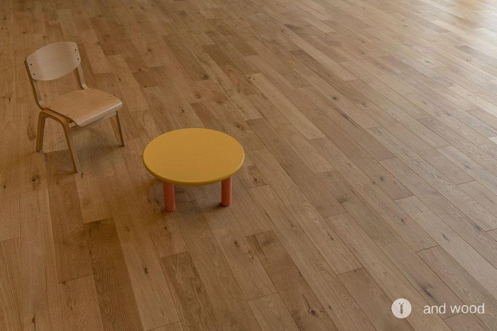 保育園 オーク 床材 無垢フローリング andwood アンドウッド 施工事例