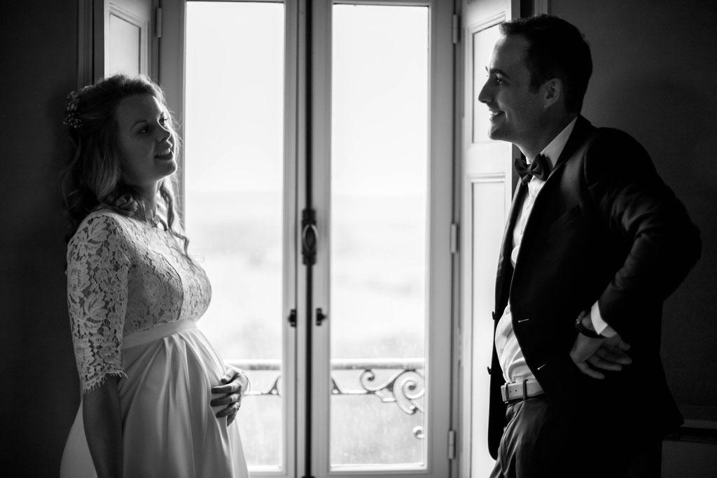 Delphine Grigné, photographe Sarthe, séance couple mariés au château