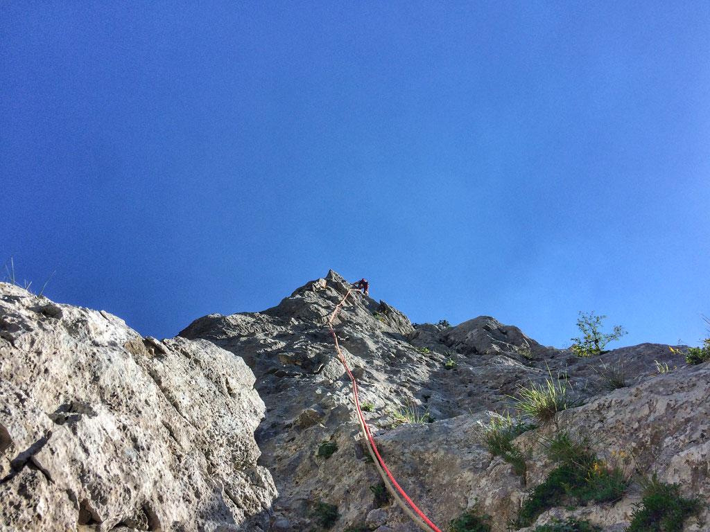 Dernière longueur avant le sommet