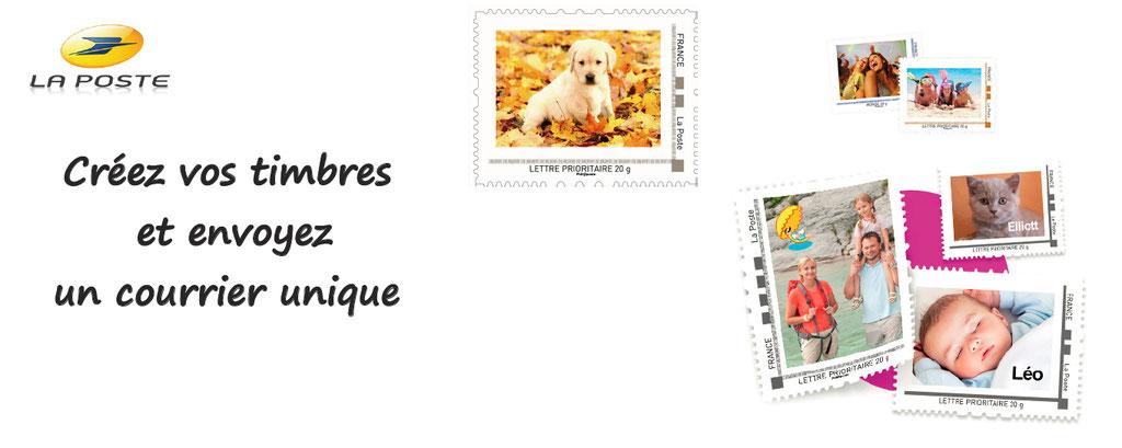 Personnalisation de timbres : choisissez vos photos, recevez vos timbres uniques, envoyez un courrier riche en émotions