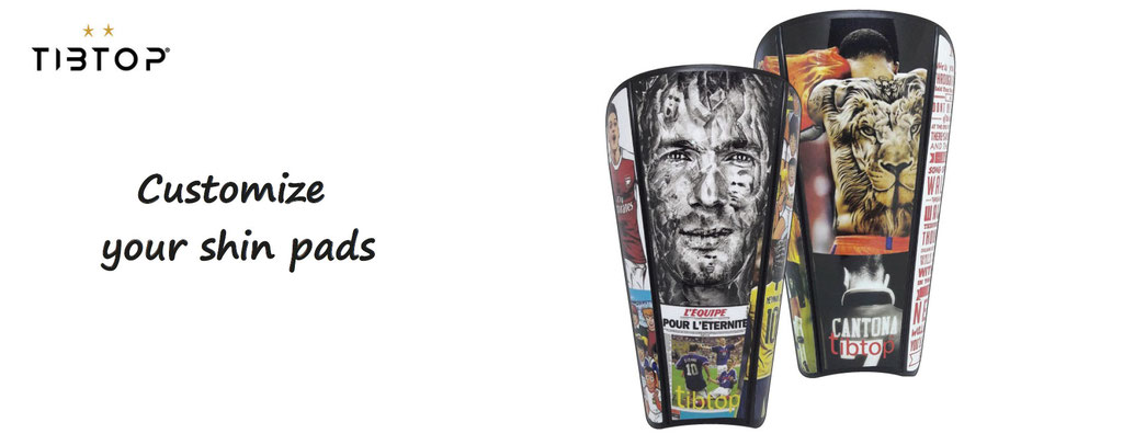 football accessories personalization ; customize your foot shin guards