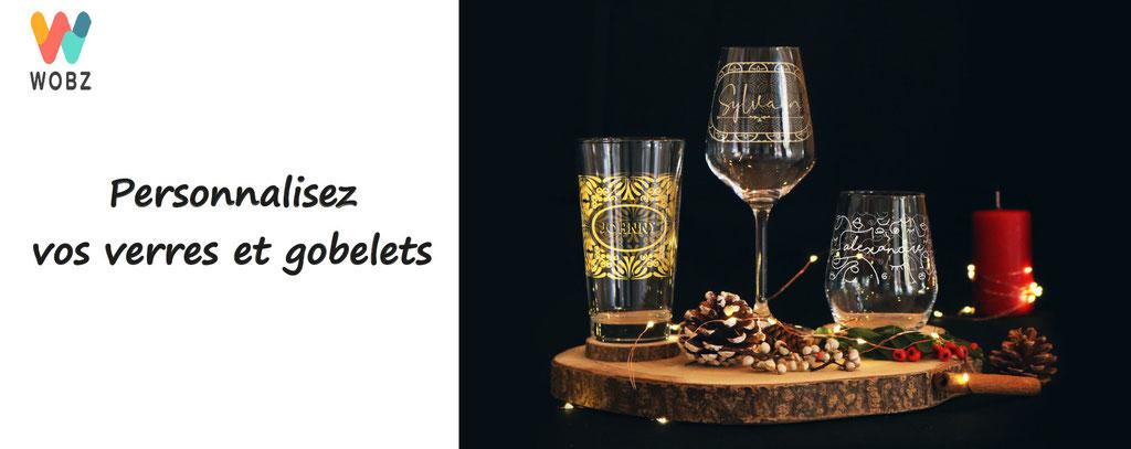personnalisation de verres et gobelets - wobz - verres à personnaliser , gobelets plastiques, pour mariages, anniversaires, fêtes