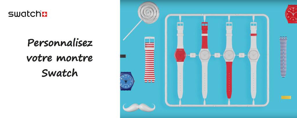Personnalisation de montres swatch suisses - montres swatch à personnaliser