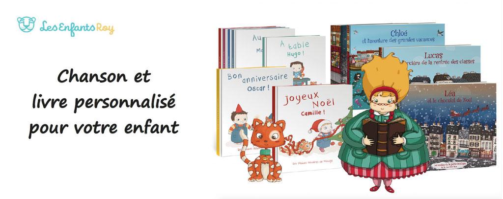 les enfants roy, chanson et livre personnalisé pour votre enfant. Personnalisation de livres et de chansons
