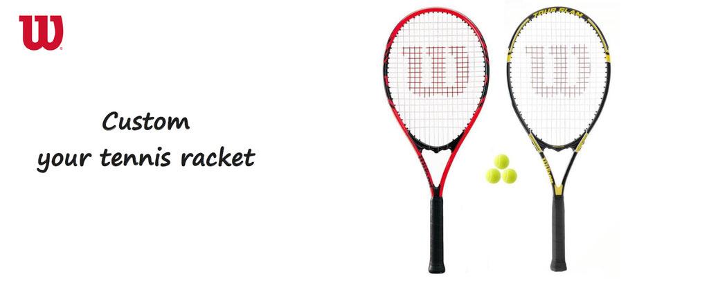 custom your racket tennis wilson. Customization of tennis equipment