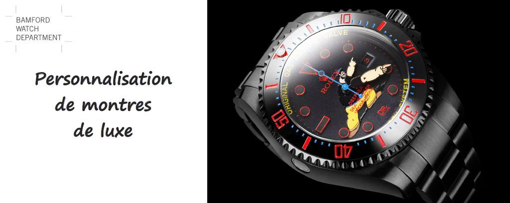 Bamford watch montres personnalisées luxe - personnalisation montre rolex luminor tag heuer