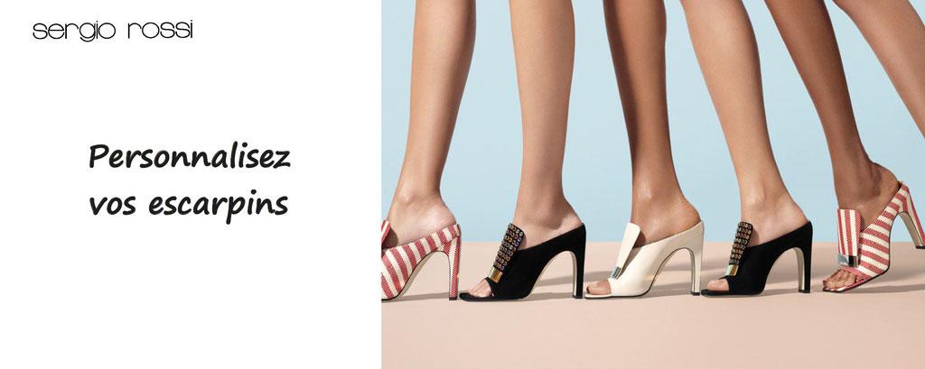 escarpins à personnaliser - chaussures personnalisables Sergio Rossi - personnalisation