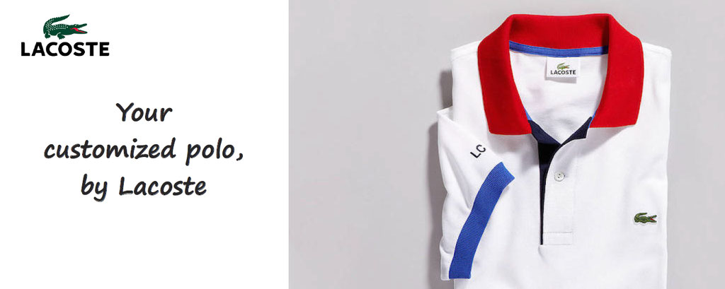customize polo lacoste L.12.12 . Customisation of polo personalized