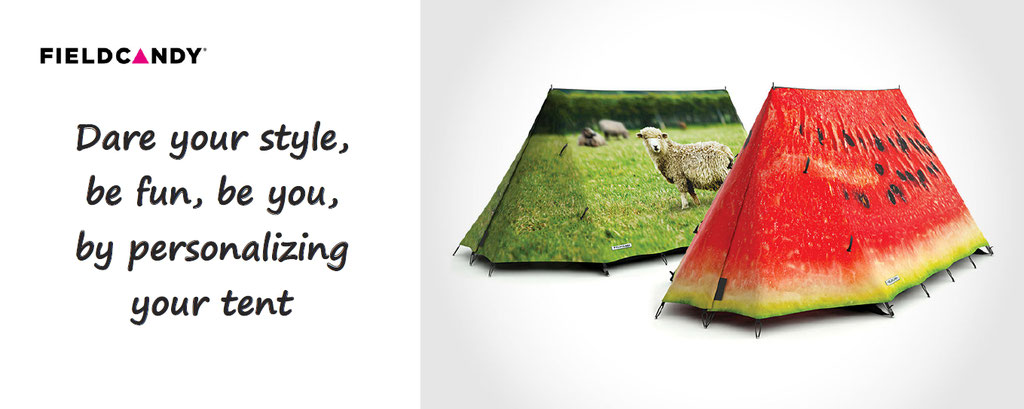 customize your tent fieldcandy - tent personalization - tent personalisation